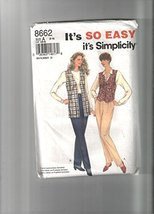 Simplicity Pattern 8662 Misses' Pull-on Pants and Lined Vests, Size A (8-18) - $5.93