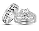 D vintage halo floral bridal set engagement ring on 10k white gold  1   167.99  1  thumb155 crop