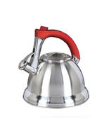 Mr. Coffee Collinsbroke 2.4 Quart Stainless Steel Tea Kettle with Red Ha... - $39.34