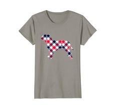 Dogue de Bordeaux Plaid Dog Silhouette T-Shirt v1 - $19.99+