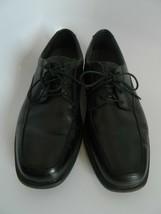 Bostonian Flexlite Mens Black Leather Dress Lace-up Shoes Size 9.5W - $33.99