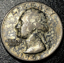 1941 D Circulated Silver Washington Quarter 25C Rare Coin - $6.93