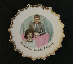 "Vintage JFK John F Kennedy 7"" Collectible Plate Jackie Jacqueline Gold Japan image 1"