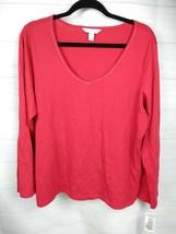 Women's Charter Club Long Sleeve Pajama Top, Sz XL Reindeer Red V-Neck NWT - $13.85