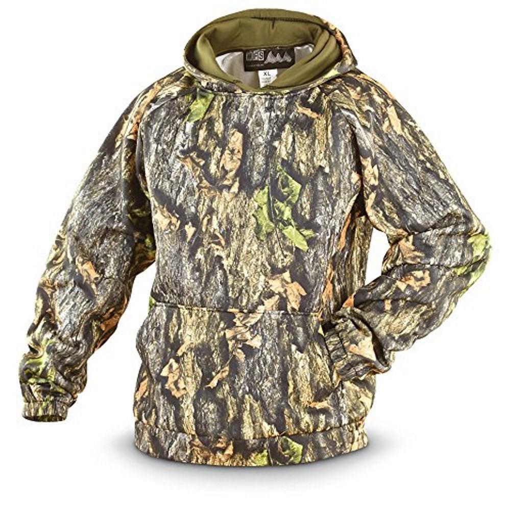 Men's Camo Hoodie Northwoods Hunting Camouflage Performance Hooded Sweatshirt