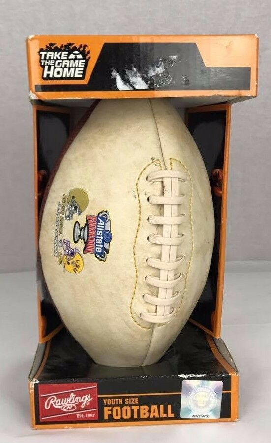Primary image for Rawlings Allstate Football sugarbowl notre dame 2007 youth size In Box