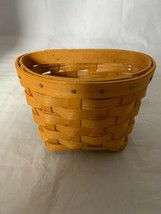 1999 Longaberger Oregano Booking Incentive Basket with plastic protector - $18.69