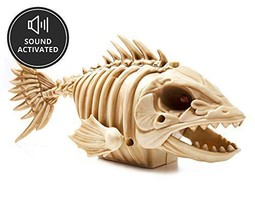 10 Inch Animated Chomping Skeleton Piranha with LED Red Light Up Eyes - ... - €22,08 EUR