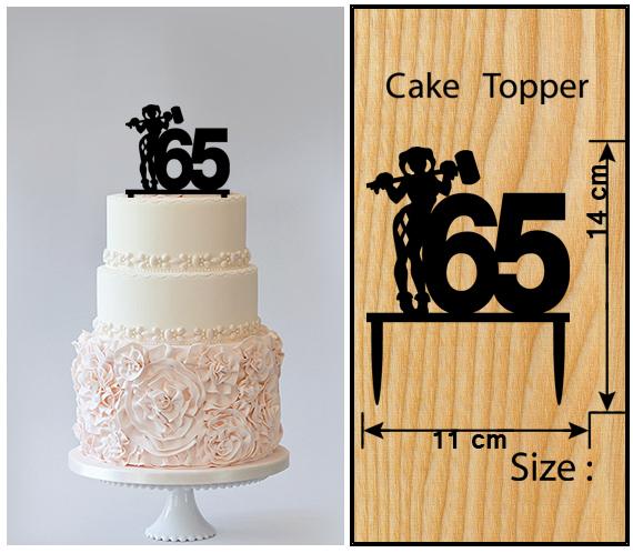 65th Birthday Anniversary Cake TopperCupcake Topper Harley Quinn 11 Pcs