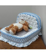 Bassinet Diaper Cake Centerpieces Blue and Silver Theme Baby Shower Any ... - $65.00+