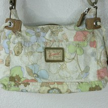 Fossil Brand Women's Beige Multicolor Floral Canvas Crossbody Small Size... - $29.65