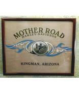 Harley-Davidson Framed Gift Mother Road Wall Art with Glass Kingman Arizona - $27.95
