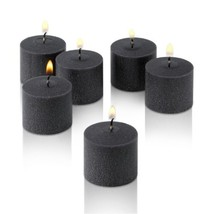 Light In The Dark Black Votive Candles - Box of 12 Unscented Candles - 1... - $14.91