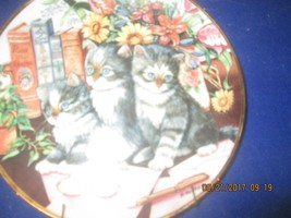 Decorative Collector Plates CATS  FRANKLIN MINT HEIRLOOM $20 each - $19.80