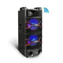 Pyle Bluetooth PA Loudspeaker Karaoke System Wireless Mic Flashing LED L... - $339.41
