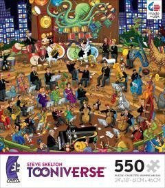 STEVE SKELTON'S TOONIVERSE RHAPSODY IN ZOO 550 Piece Jigsaw Puzzle MADE IN USA P