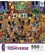STEVE SKELTON'S TOONIVERSE RHAPSODY IN ZOO 550 Piece Jigsaw Puzzle MADE ... - $39.99