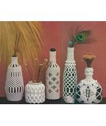 Macrame Bottle Covers Pattern Vintage - Digital download in PDF format -... - $1.99