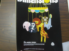 1978 Dimensions ZOO ANIMALS MOBILE NEEDLEPOINT KIT #2086 - $9.90
