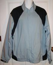 Footjoy FJ Dryjoys Golf Jacket Light Blue Gray Black XL Windbreaker Lined Wind  - $69.95