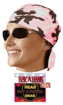 PINK CAMOUFLAGE CAMO LINED DU DO DOO RAG FITTED Tied BANDANA Skull Head ... - $7.55