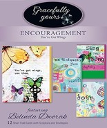 Gracefully Yours You've Got Wings Encouragement Greeting Cards, 12, 4 De... - $5.30