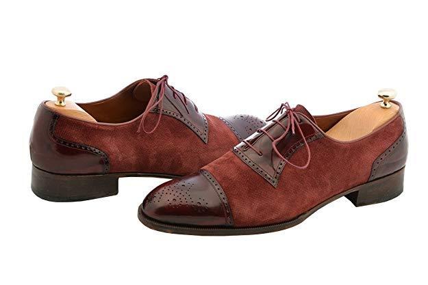 2fac4a3d3ad Elegant burgundy formal shoes men dress shoes hanmdade mens designer shoes2