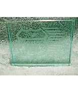 Vintage Collectible MILLER ROUTE 100 CLUB Etched Glass Block-Miller Brew... - $39.95