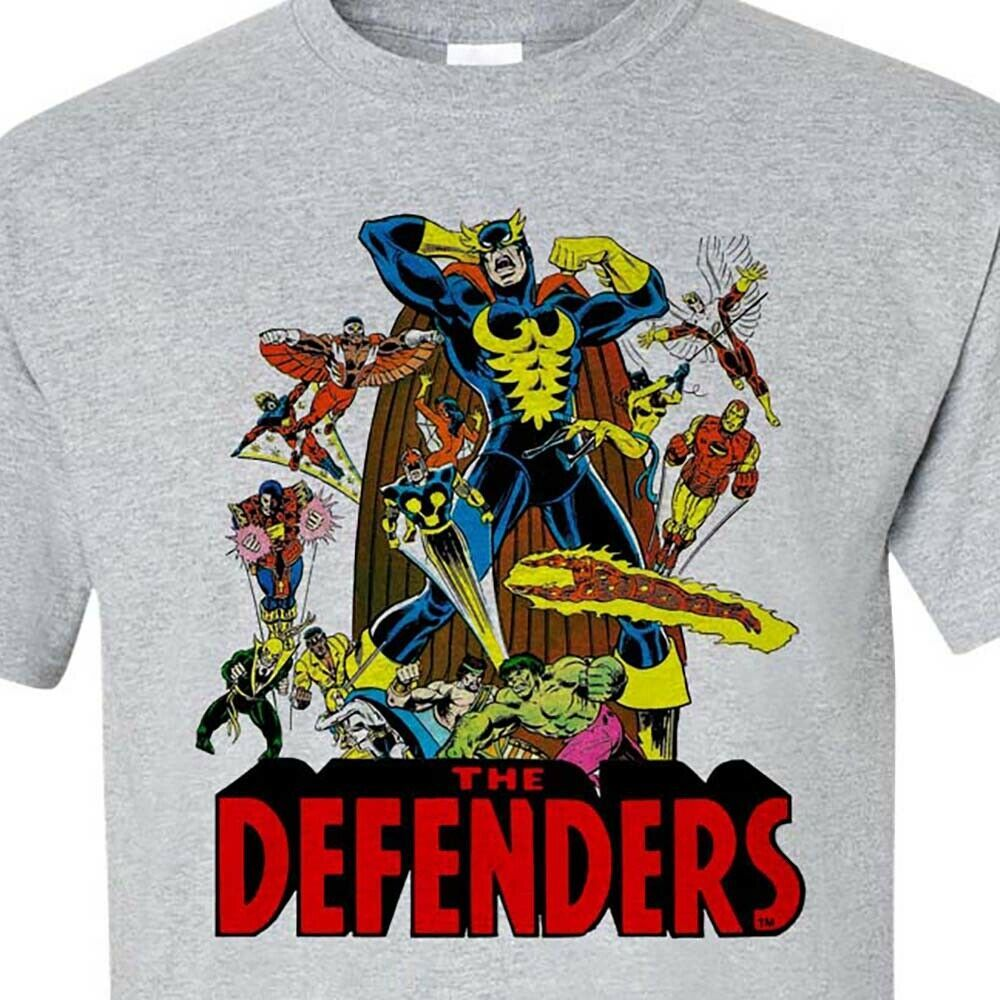 The Defenders T-shirt retro vintage Marvel comics cotton graphic tee