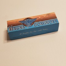 Milton Bradley Dominos Set, 1970s Magna Double Six No. 225 + box & instructions - $20.00