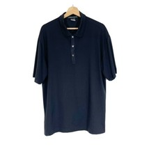 NIKE Fit Dry Tiger Woods Polo Golf Top Sz L Black Short Sleeves - $23.36