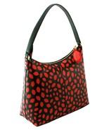 Lulu Guinness Lucilla Lips Shoulder Bag Black and Red Medium Handbag RRP... - $406.33