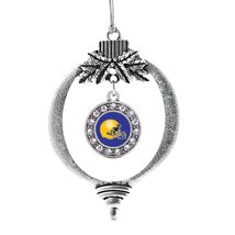 Inspired Silver Blue and Yellow Team Helmet Circle Holiday Decoration Christmas  - $14.69