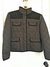 COLLEZIONE Black Quilted Barn Jacket Coat Retails $125 Pockets PXL Petite - $39.55