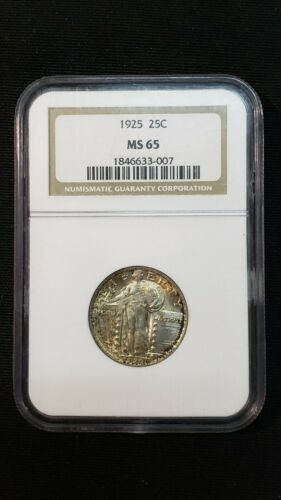 1925 Standing Liberty Silver Quarter 25c US Type Coin Certified NGC MS65 NGC