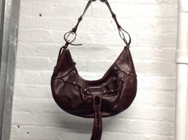 100% Genuine Leather DKNY Brown Ladies Tote Hobo Shoulder bag Handbag  - $70.00