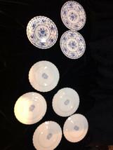 "Vintage Johnson Brothers Blue ""Indies"" Ironstone England Lot of 8 Bread Plates - $15.00"