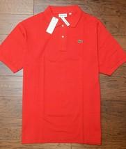 Lacoste PH221B Men' S Rosso Rete Cotone Polo Grande & Alto 5XLB Eu 12R - $54.40