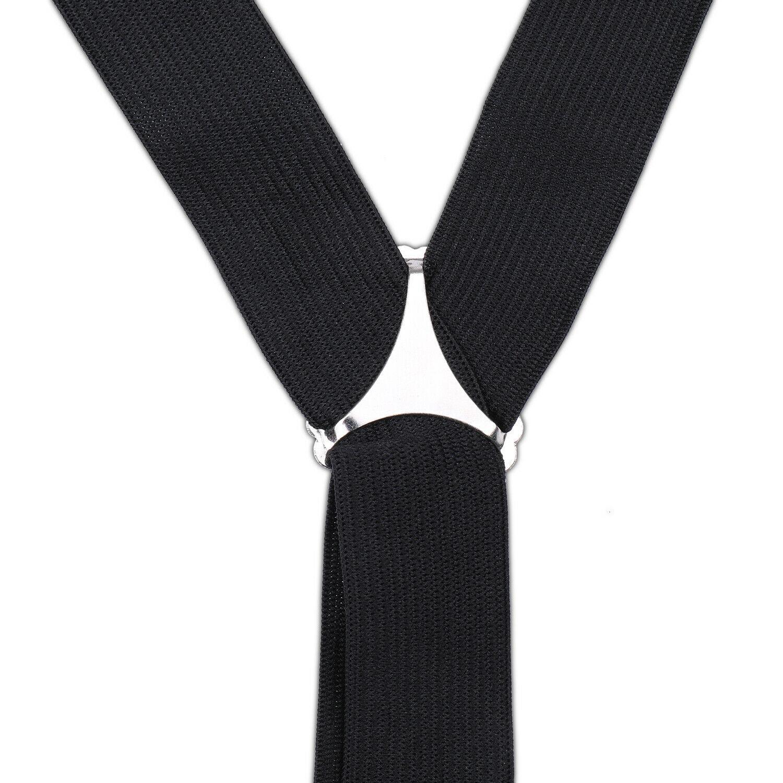 Black Unisex Suspender Braces Adjustable with Button Holes Lycra/Elastane UK image 4