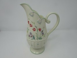 "LENOX SPRING BOUQUET WATER JUICE PITCHER 10-1/4"" RAISED FLORALS  - $38.56"