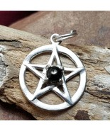 Divine Protection Jet Silver Pentacle Amulet Aura Cleanse & Healing  - $70.00
