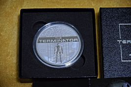 Terminator T-800 2 Oz .999 Silver Proof Round With COA & Individually Numbered image 11