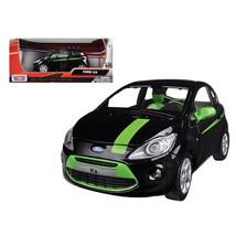 Ford Ka Black and Green 1/24 Diecast Model Car by Motormax 73382bk - $31.10