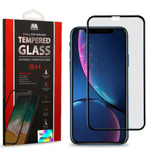 For Apple iPhone XR Premium Tempered Glass Full Coverage Screen Protector Clear - $7.33