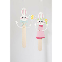 Darice Easter Foamies Craft Stick Bunnies Kit: Makes 2 w - $9.99