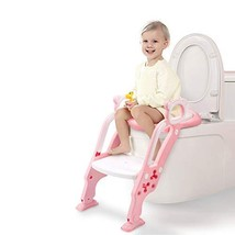 GrowthPic Toddler Toilet Training Seat Ladder with Sturdy Non-Slip Wide Step and