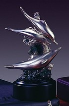 Three Swimming Dolphins Statue - Figurine - $33.74
