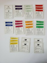 Vintage 1936 Monopoly A Parker Trading Game Title Deed Cards  - $9.95