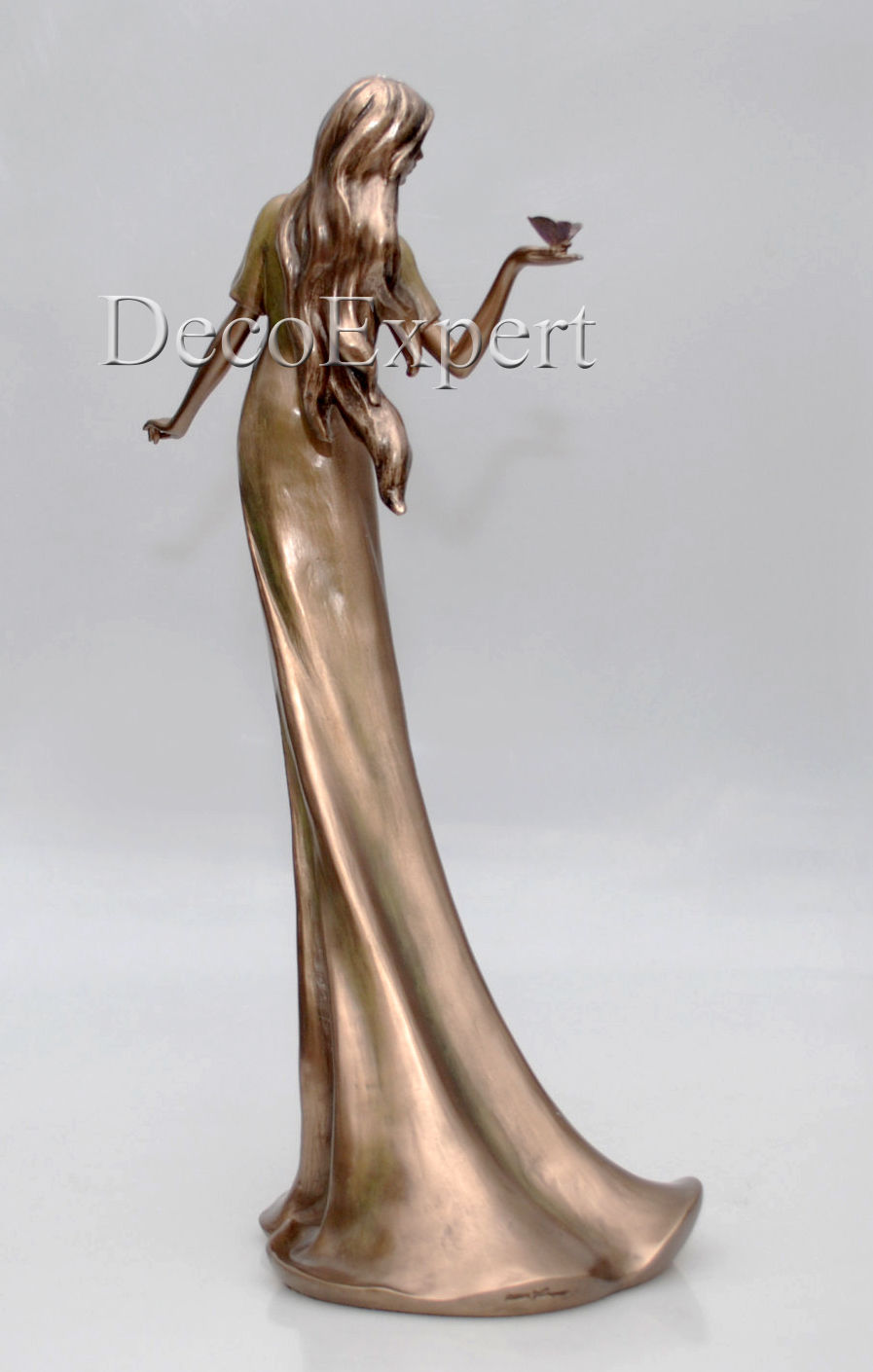 Woman with Butterfly Sculpture * Free Shipping