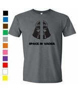 Space In Vader T-Shirt -  Darth Vader Space Invaders Star Wars Shirt Gee... - $12.86+